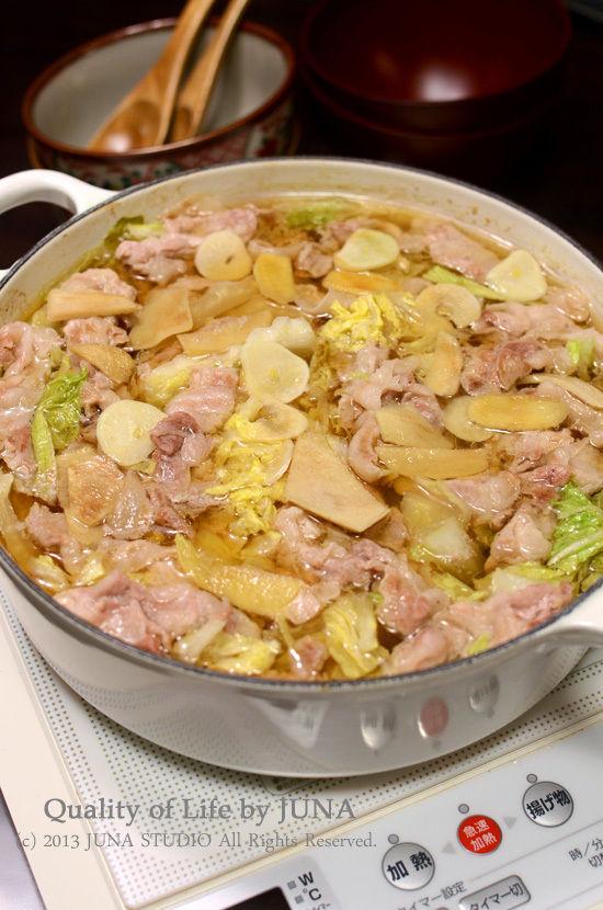 白菜と豚肉のこくまろ鍋