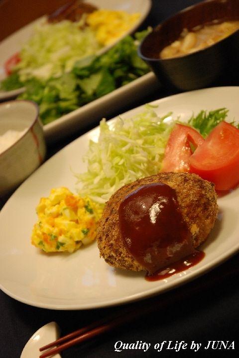 定番家庭料理☆メンチカツ ~ゆで卵ソース添え~