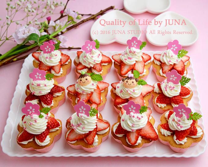 活躍シーンいろいろ☆いちごのカップケーキ