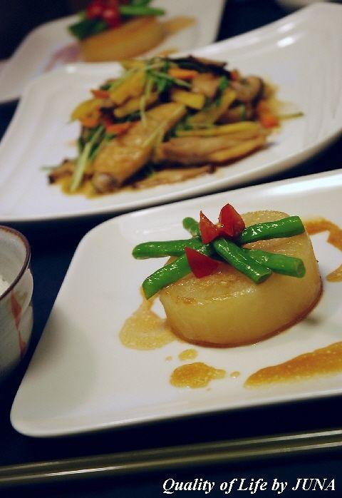 ダイエットに☆大根ステーキと鶏手羽中の炒め物