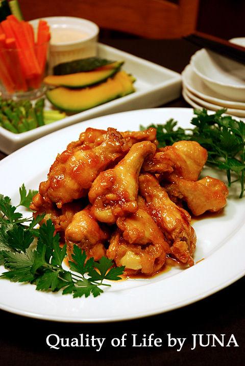 チキンのオレンジ煮 と 蒸し野菜&おいしいソース