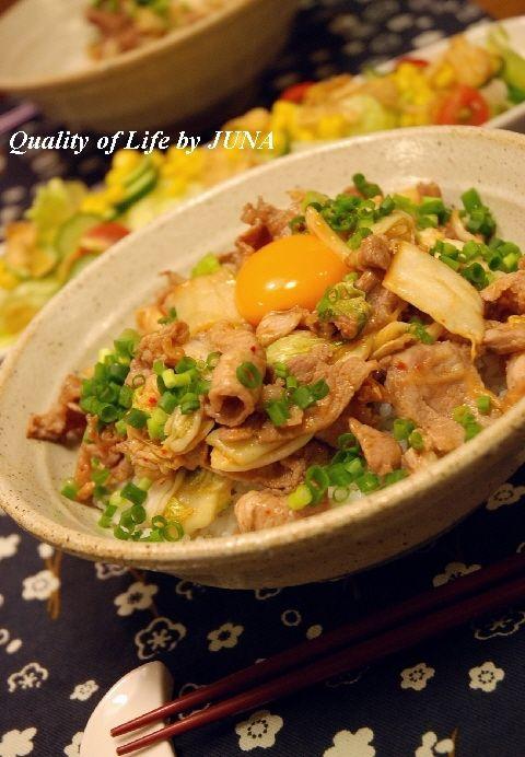 簡単レシピ☆豚キムチ丼 と キムチにまつわる思い出