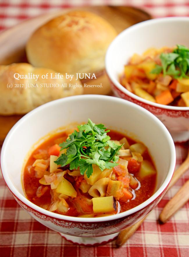 冬野菜でラタトゥイユ風スープ