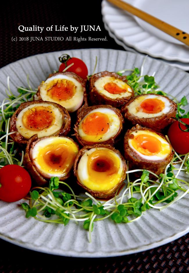 トロトロ半熟卵の牛肉巻き / 東京ラブストーリーの再放送を見て思ったこと