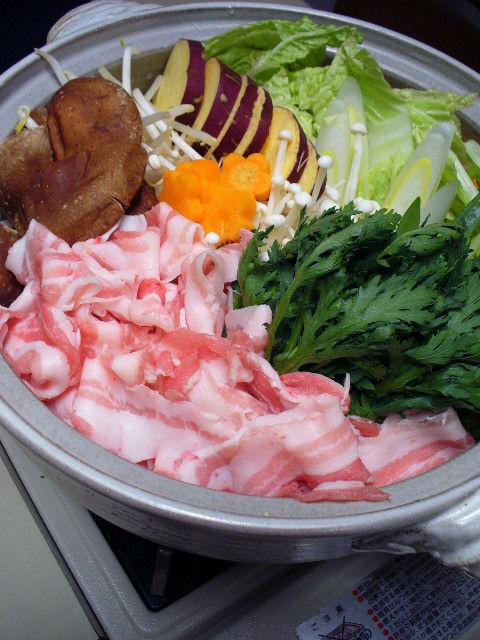 家族団らん~豚バラ肉のお鍋~