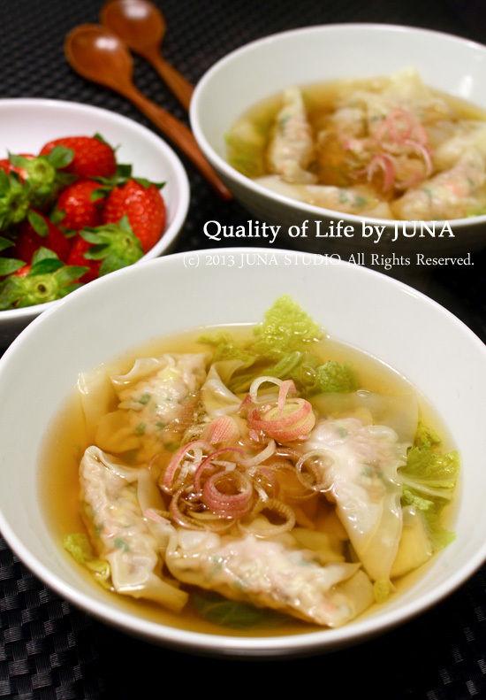 ワンタンと白菜のスープ