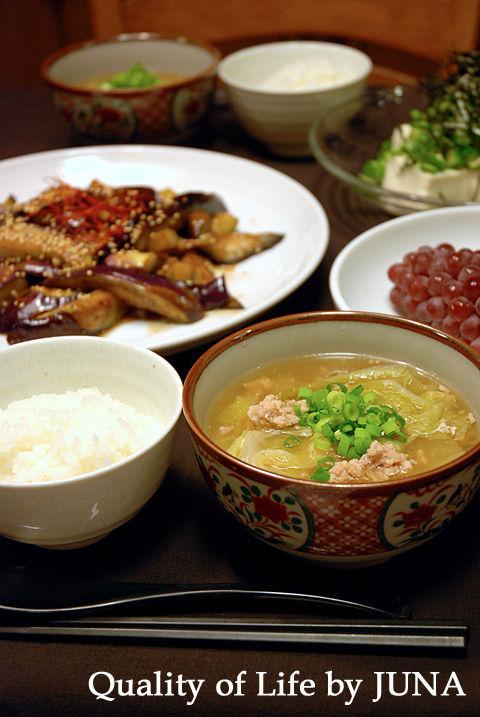 お酢でさっぱり☆白菜と鶏ひき肉のトロトロスープ