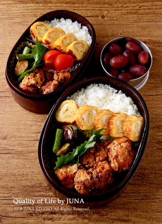 【おべんと復活】やっぱり鶏のから揚げ弁当でスタート♪