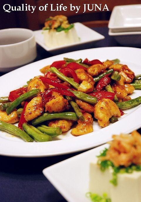 ガーリックささみとお野菜の炒め物