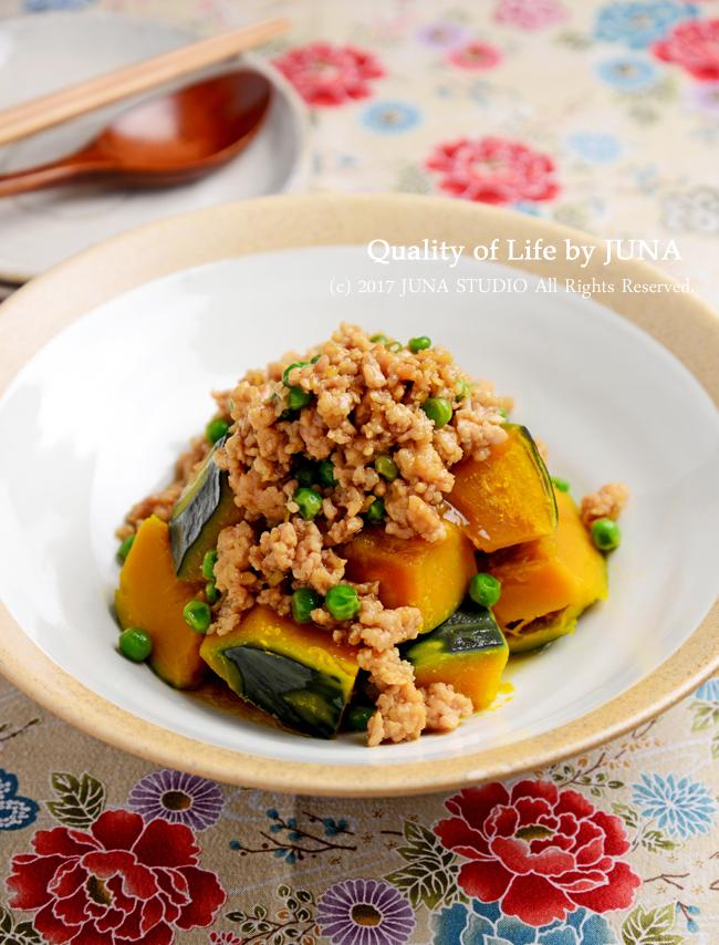 【野菜×ひき肉】かぼちゃのそぼろあんかけ / れんこんの挟み揚げ
