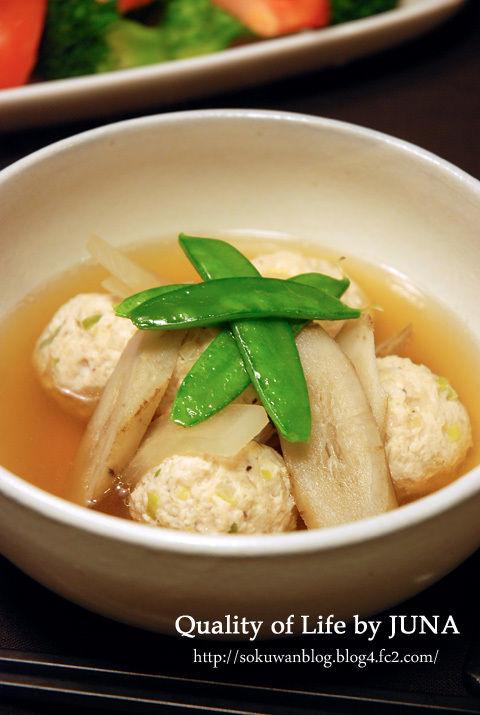 鶏肉団子と根菜の和風スープ