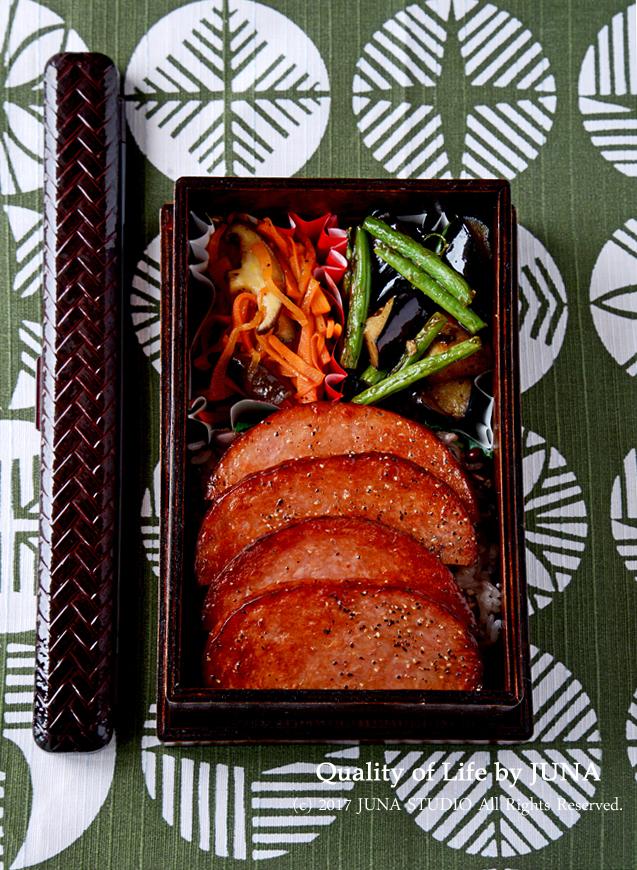 【今日のおべんと】ハムステ丼