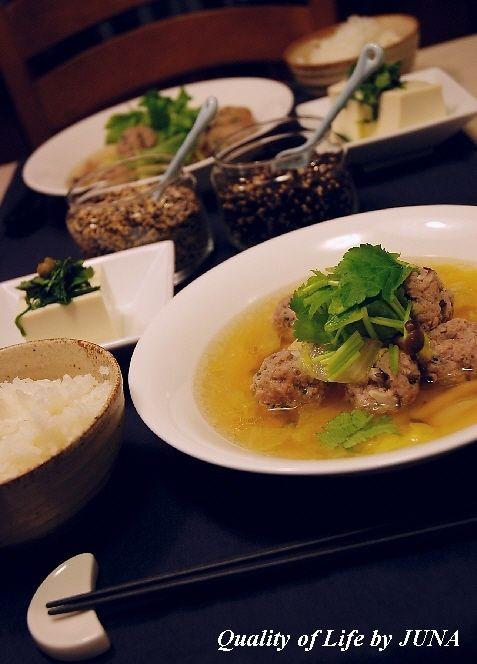 簡単肉団子スープで心も体も暖まろう^^