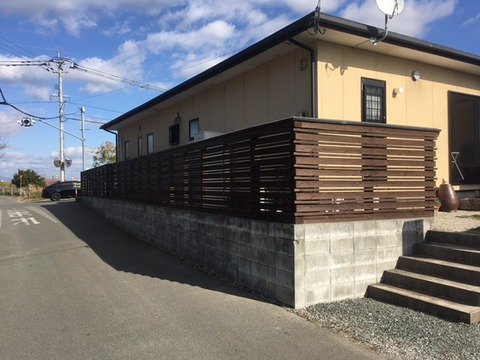 柳川市I様邸フェンス塗装工事④