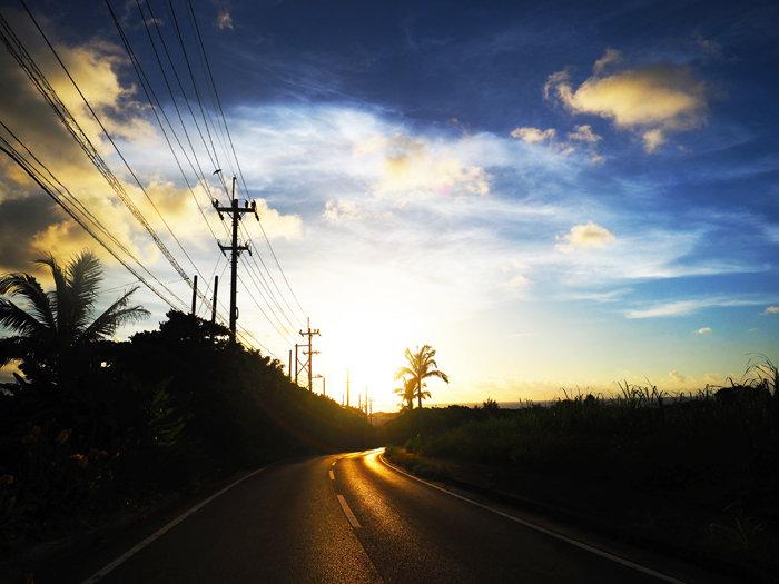 台風前の夕焼け700P7092588