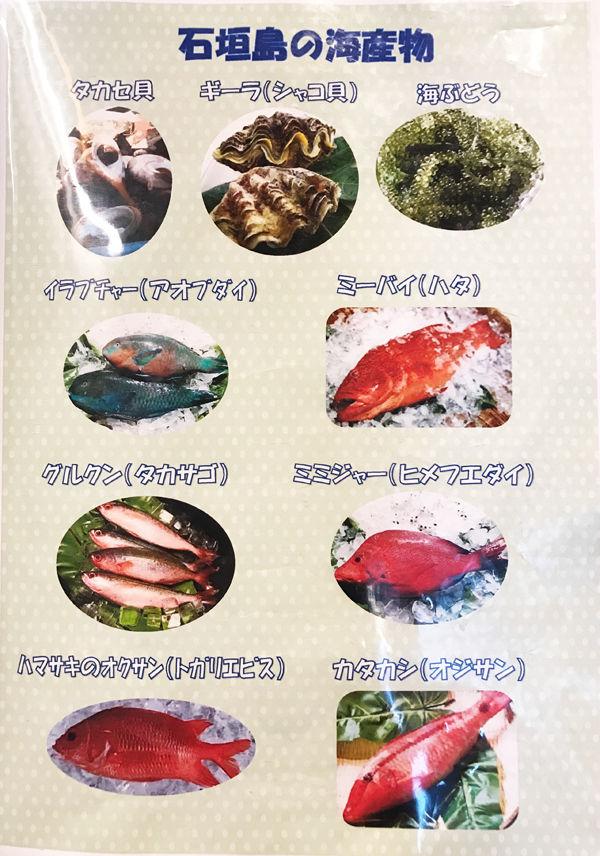 ひとし石垣の魚