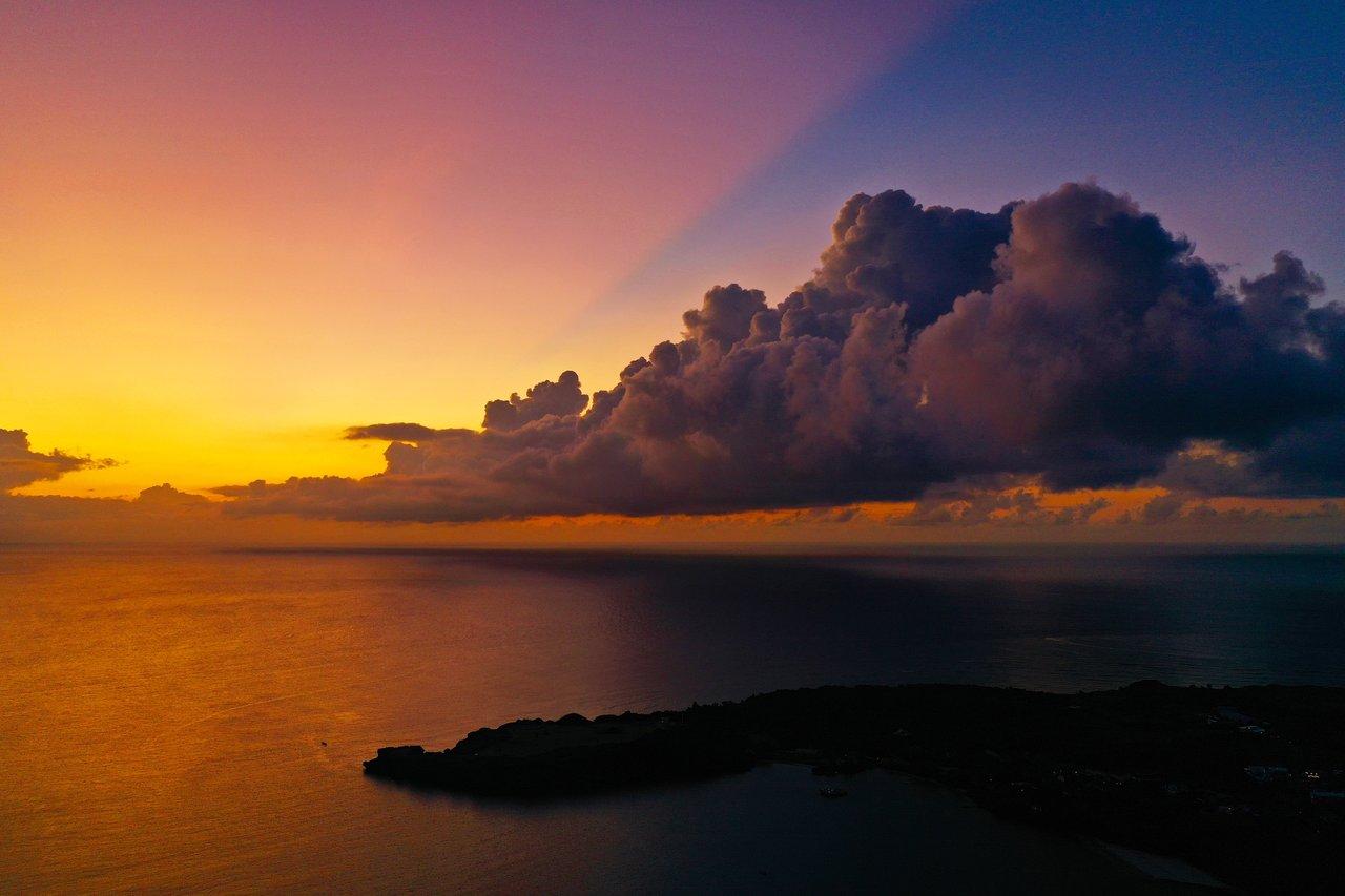 ドゥドゥマリ浜の夕焼け