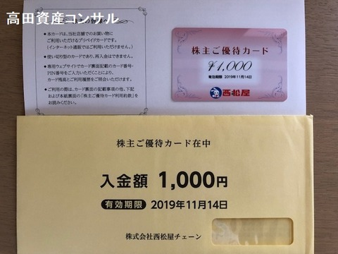 7545西松屋株主優待