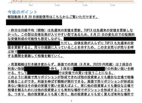 会員レポート8月22日号抜粋