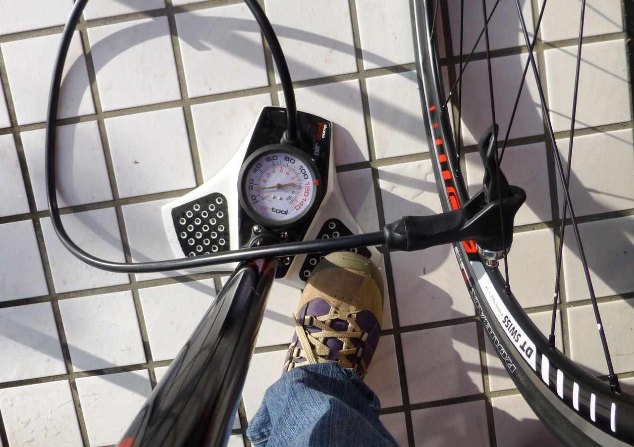 自転車の 自転車 空気入れ 携帯 ゲージ : 空気入れ : 岐阜県御嵩町の ...