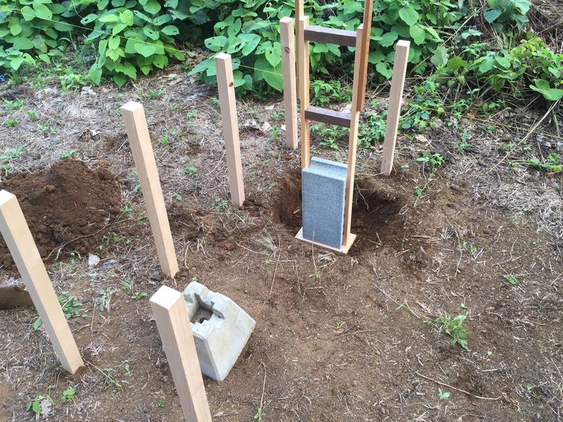 【DIY】畑の物置小屋を作る|その2