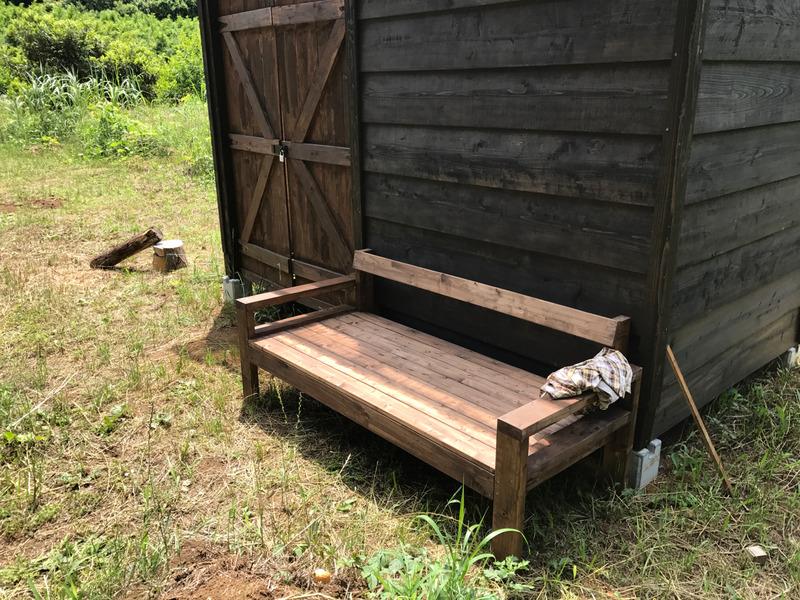 【DIY】ガーデンベンチをつくる
