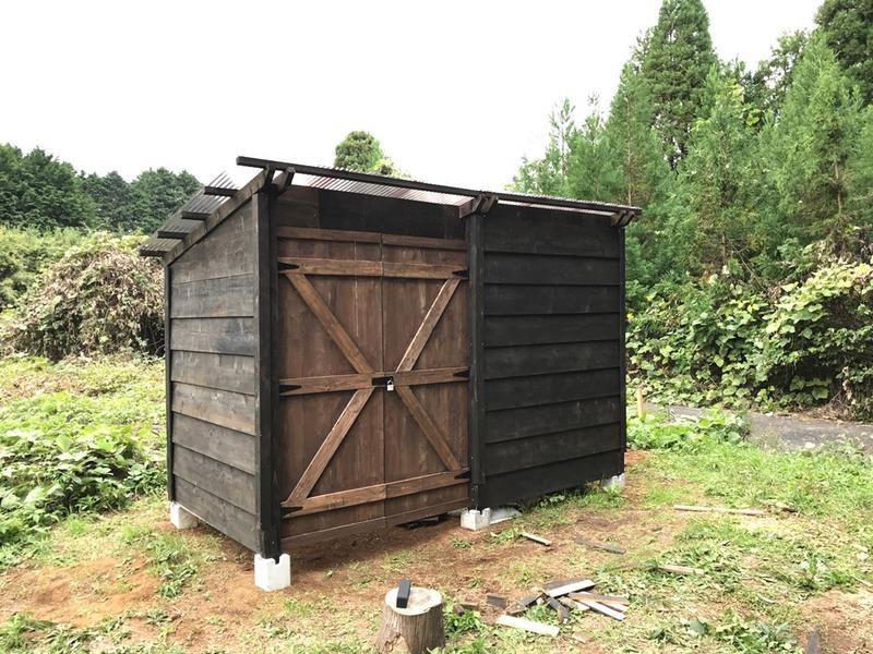 【DIY】畑の物置小屋を作る|その5