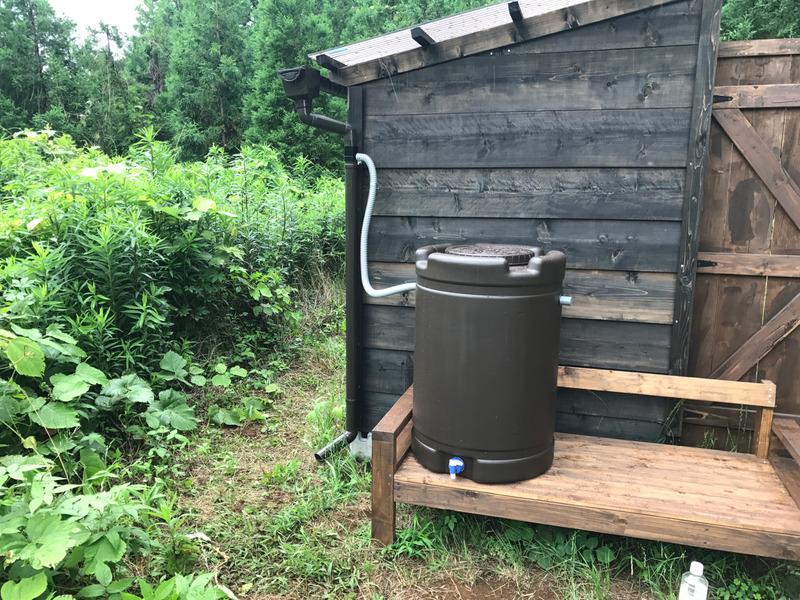 【DIY】物置小屋に雨水タンク設置|その1-雨樋