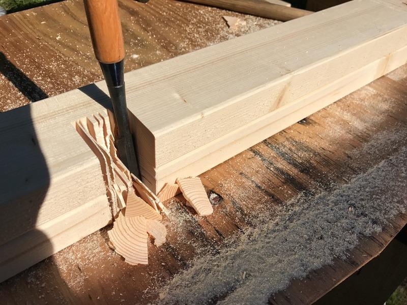 【DIY】畑の物置小屋の内装|床貼り&棚作り