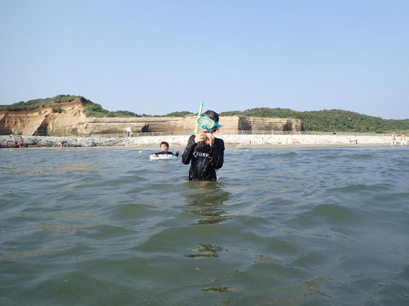 銚子マリーナで海水浴