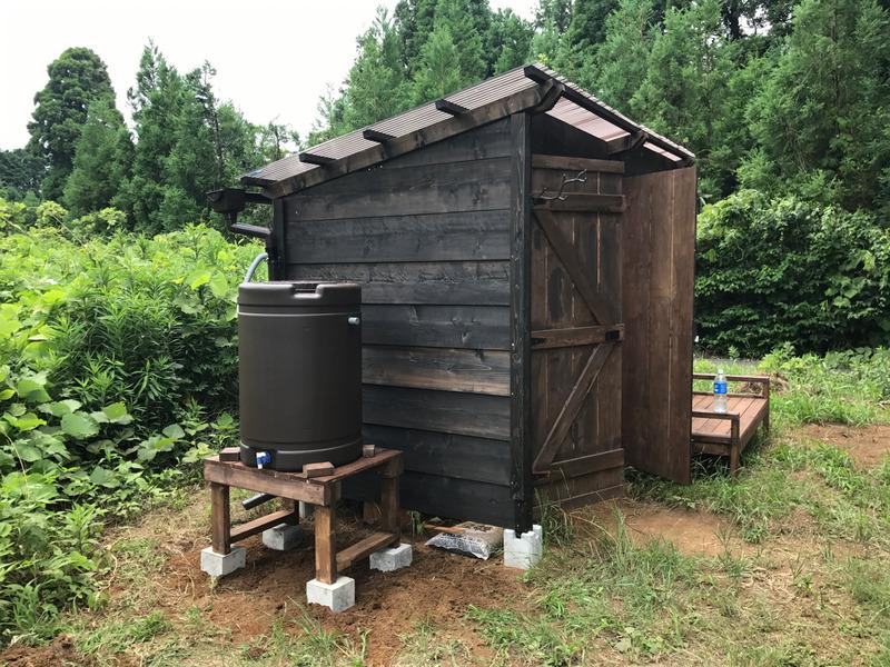 【DIY】物置小屋に雨水タンク設置|その2-タンク台