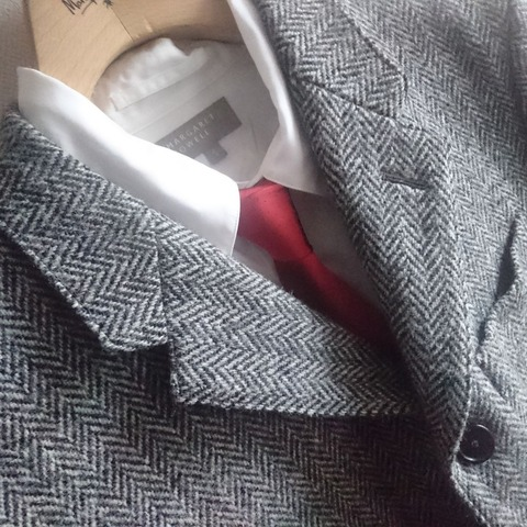 silk tie & harris tweed