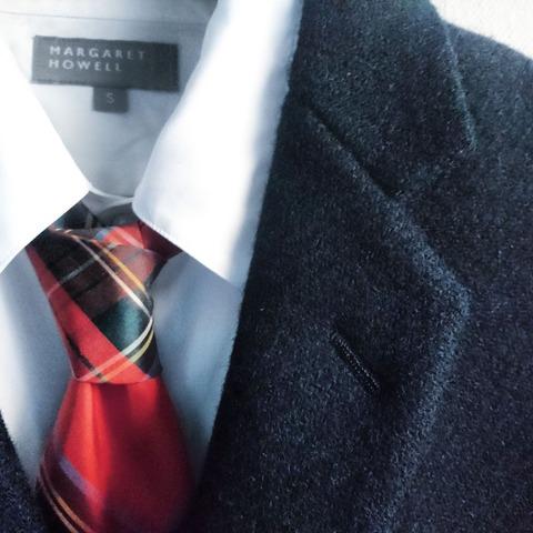 tartan check tie & harris tweed jacket