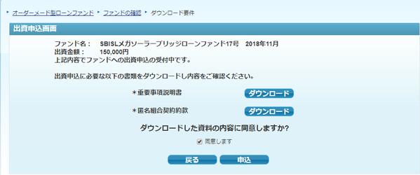①ソーラーファンド申込み