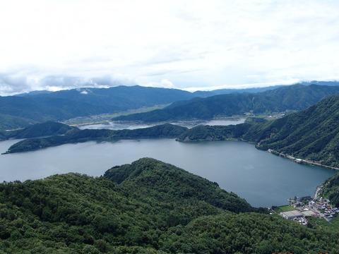 三方五湖 山頂公園からの眺め 写真