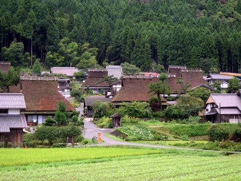 美山町かやぶきの里 風景 写真