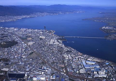 琵琶湖 空撮 写真