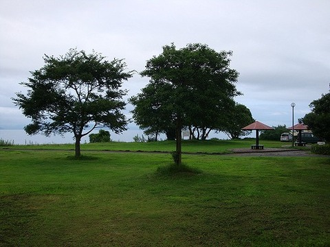 琵琶湖 キャンプ場 写真