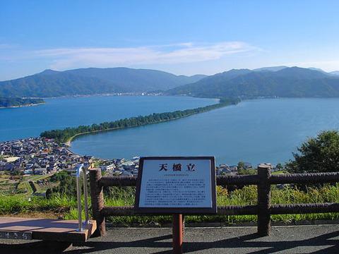 天橋立 北側にある笠松公園からの斜め一文字 写真