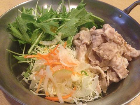 水菜冷しゃぶ (1)