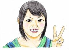 大阪の焼き鳥のおいしい居酒屋のアルバイトの無料似顔絵