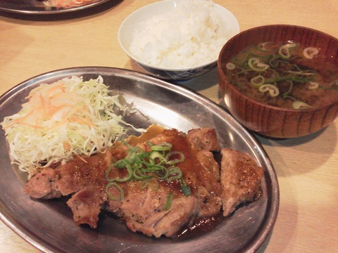 座布豚ステーキ(200g)定食
