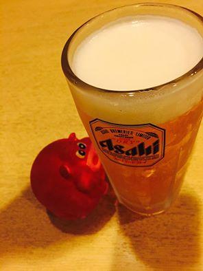 アサヒスーパードライ生ビールが冷たくて美味しい居酒屋