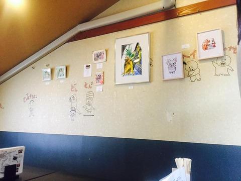 アートの展示会も開催している大阪福島の居酒屋