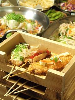 大阪福島(キタ圏内)にある豚の鍋とやきとん串がおすすめのグルメな居酒屋ブログ用画像。宴会カレー鍋、トマト鍋を始め、豚のしゃぶしゃぶ、すき焼き、もつ鍋等、鍋料理全般が得意。他にも焼きとん串、串カツ、トンカツ、豚飯、餃子、ナポリタン、焼きそば、お好み焼き、カレー等、豚肉を使用した料理が得意。面白い飲食店。kusi