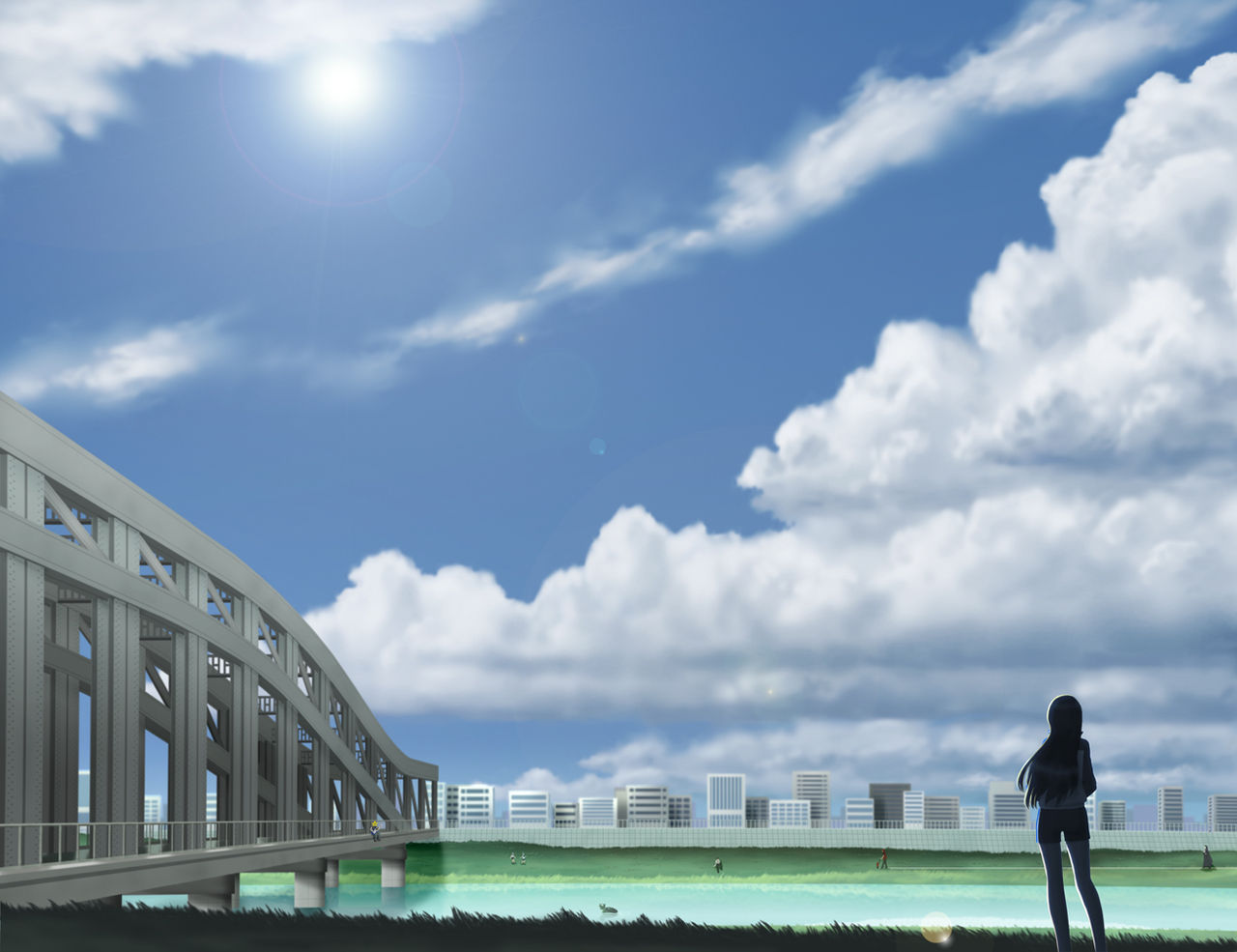 荒川アンダー ザ ブリッジ の可愛い壁紙が欲しいんだけど 画像