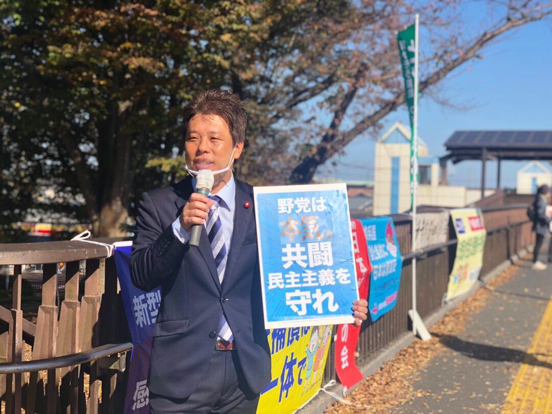 開発に予算投じ福祉削る市政の転換を!党と後援会の決起集会で訴えました!