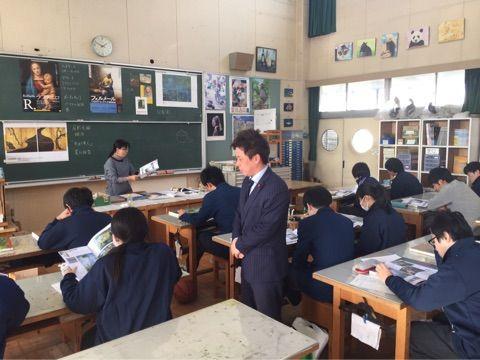 課題解決能力を養う新たな総合学習!市立千葉高校と市立稲毛高校を視察!