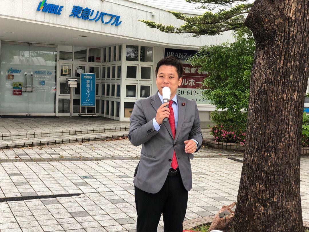 6月議会一般質問の作成と土気駅夕方宣伝