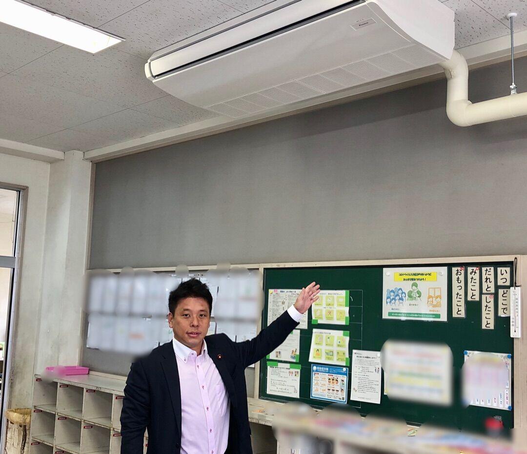 千葉市170小中学校の普通教室エアコン設置が完了しました!